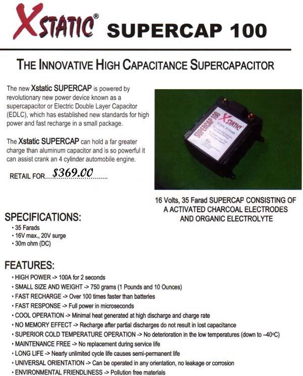 BatCap Capacitors / Batteries @LightAV com 877-390-1599