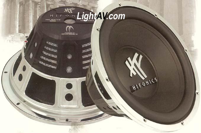 Hifonics Subs @LightAV com 877-390-1599 Hifonics,maxximus,olympus