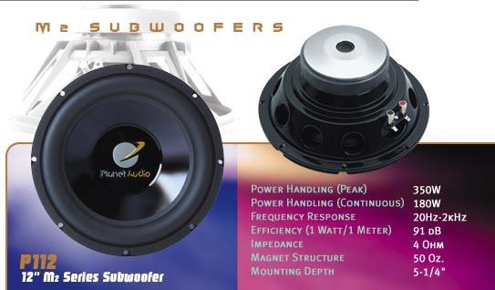 planet audio p112dvc 12 350 watt dual 4 ohm subwoofer with box rh infiniteelectronix com 10 Inch Subwoofers JL Audio W0 Planet Audio VC10s